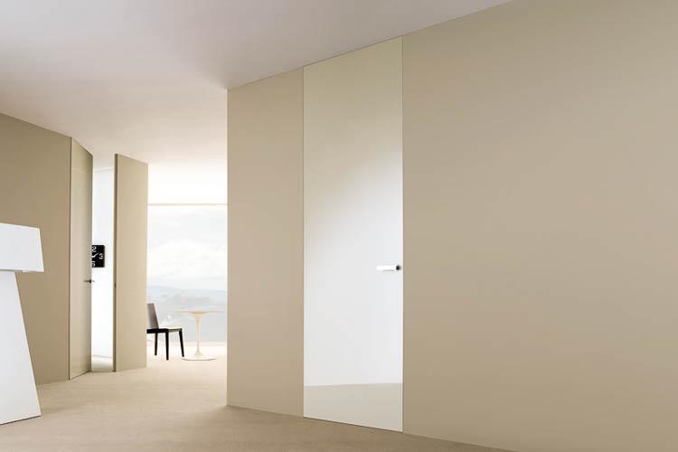 wandbündige Türen raumhoch reversibel