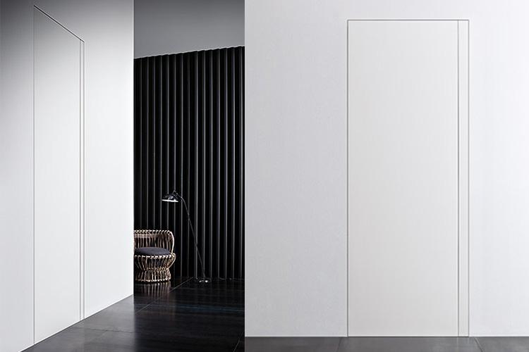 wandbündige Türen ohne Griff