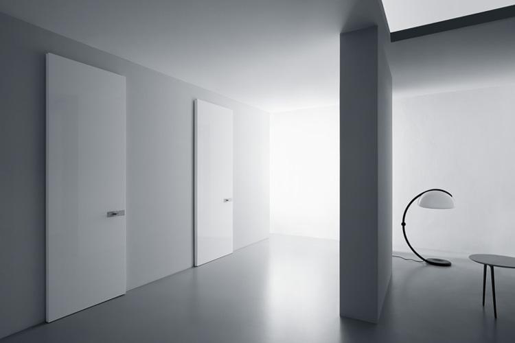 Hochglanz polierte Türen weiß
